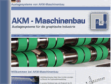 Tablet Preview of akm-maschinenbau.de